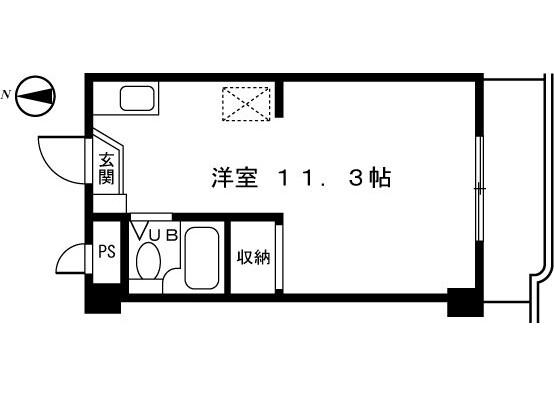 1R Apartment to Rent in Machida-shi Floorplan
