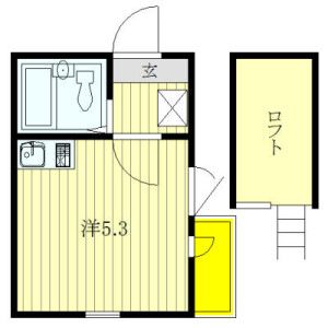 1R Apartment in Kameido - Koto-ku Floorplan