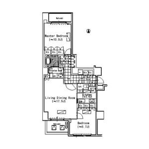 2LDK Mansion in Minamiaoyama - Minato-ku Floorplan
