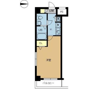 1K Mansion in Yokokawa - Sumida-ku Floorplan
