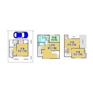 4LDK {building type} in Minamiseiwaencho - Suita-shi Floorplan