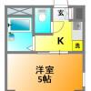 在小金井市內租賃1K 公寓大廈 的房產 房間格局