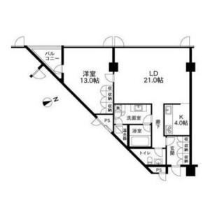 1LDK Mansion in Sendagaya - Shibuya-ku Floorplan