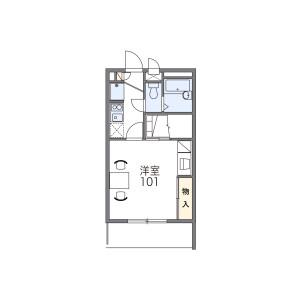 1K Apartment in Chokushicho - Takamatsu-shi Floorplan