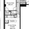 1SLDK Apartment to Rent in Shibuya-ku Floorplan