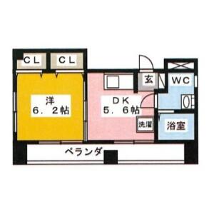 1DK Mansion in Morishita - Koto-ku Floorplan