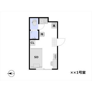 1R Mansion in Nakamagome - Ota-ku Floorplan