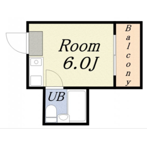 1R Mansion in Misaki - Osaka-shi Minato-ku Floorplan