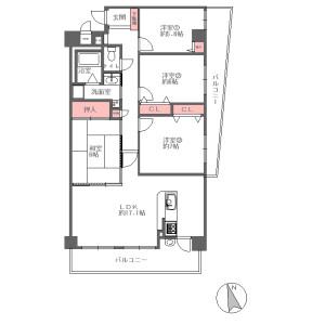 4LDK {building type} in Senriyama nishi - Suita-shi Floorplan
