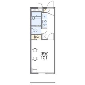 1K Mansion in Nakamiya - Osaka-shi Asahi-ku Floorplan