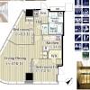 2LDK Apartment to Rent in Shibuya-ku Floorplan