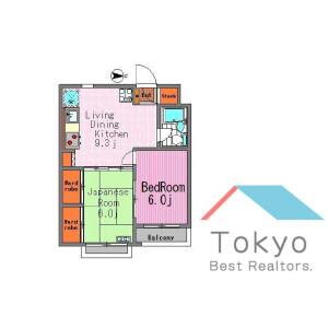 2DK Mansion in Nakano - Nakano-ku Floorplan
