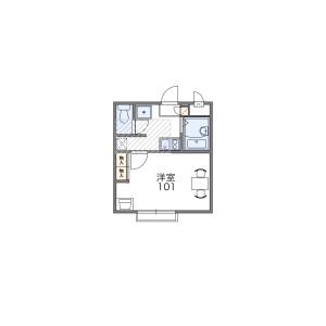 1K Apartment in Miyoshicho - Fuchu-shi Floorplan