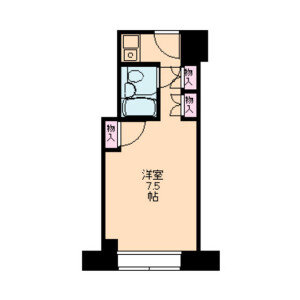 1R Mansion in Yoyogi - Shibuya-ku Floorplan