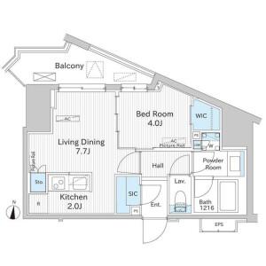 1LDK Mansion in Minamiaoyama - Minato-ku Floorplan