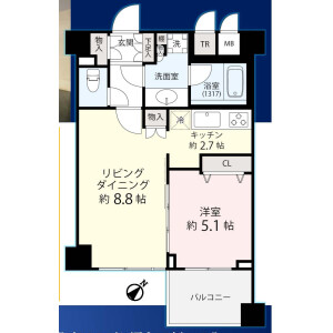 1LDK {building type} in Nezu - Bunkyo-ku Floorplan