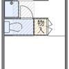 1K Apartment to Rent in Musashino-shi Floorplan