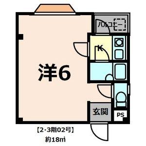 1R Apartment in Dejimacho - Sakai-shi Sakai-ku Floorplan