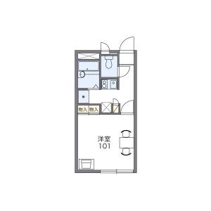 1K Apartment in Miyazakicho - Chiba-shi Chuo-ku Floorplan