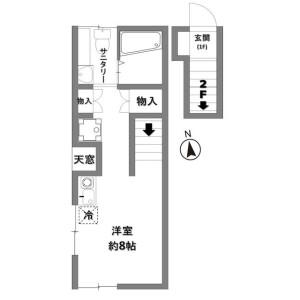 丰岛区池袋(2〜4丁目)-1R公寓 楼层布局
