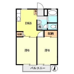 2DK Apartment in Tagara - Nerima-ku Floorplan
