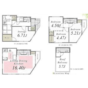 4LDK {building type} in Senju motomachi - Adachi-ku Floorplan