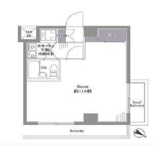 1R {building type} in Nishishinjuku - Shinjuku-ku Floorplan