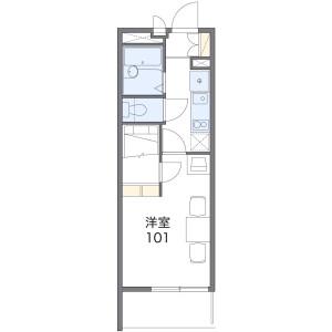 1K Mansion in Yunagi - Osaka-shi Minato-ku Floorplan