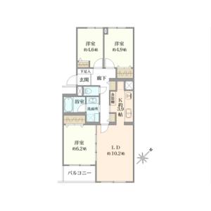 3LDK {building type} in Tamagawa - Setagaya-ku Floorplan