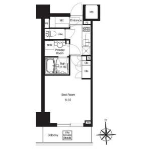 1K Mansion in Iwabuchimachi - Kita-ku Floorplan