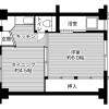 在枚方市内租赁1DK 公寓大厦 的 楼层布局