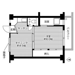 1DK Mansion in Haginosho - Takatsuki-shi Floorplan
