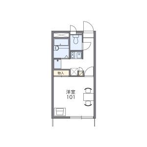 1K Apartment in Asakuracho - Ashikaga-shi Floorplan