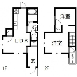 2LDK House in Wakae higashimachi - Higashiosaka-shi Floorplan