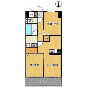 2LDK Mansion in Higashikasai - Edogawa-ku Floorplan