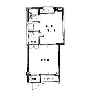 新宿區西新宿-1DK公寓大廈 房間格局