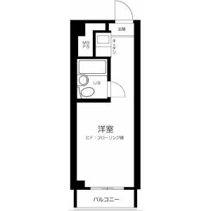 品川区 西五反田 1K マンション 間取り