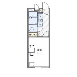 1K Apartment in Yachiyodai nishi - Yachiyo-shi Floorplan