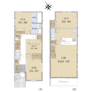 3SLDK {building type} in Higashikanamachi - Katsushika-ku Floorplan