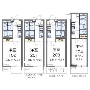1K 아파트 in Shibafuji - Kawaguchi-shi Floorplan