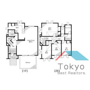 4LDK Town house in Miyamae - Suginami-ku Floorplan