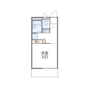 1K Apartment in Mamedocho - Yokohama-shi Kohoku-ku Floorplan