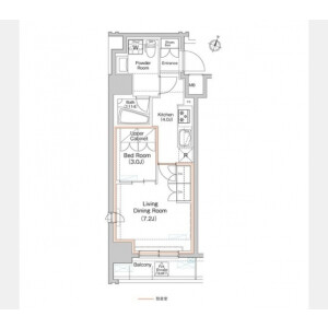 2K Mansion in Hatagaya - Shibuya-ku Floorplan