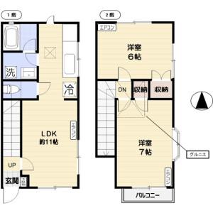 2LDK Mansion in Soshigaya - Setagaya-ku Floorplan