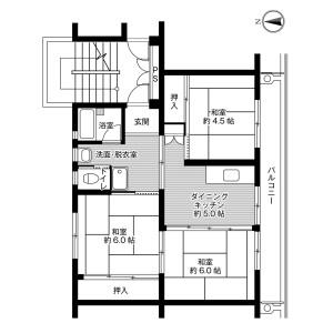 3DK Mansion in Nadoka - Ryugasaki-shi Floorplan