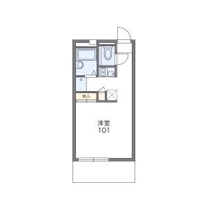 尼崎市稲葉荘-1K公寓大廈 房間格局
