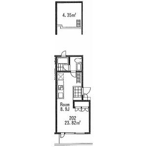 1R Mansion in Yoga - Setagaya-ku Floorplan