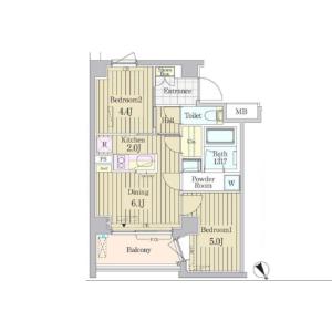 2DK Mansion in Jingumae - Shibuya-ku Floorplan