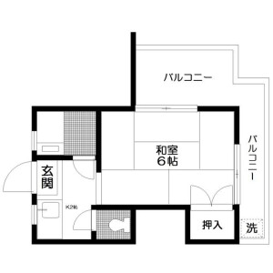 1K 맨션 in Kitashinjuku - Shinjuku-ku Floorplan