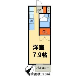 1R Apartment in Yamazaki - Noda-shi Floorplan